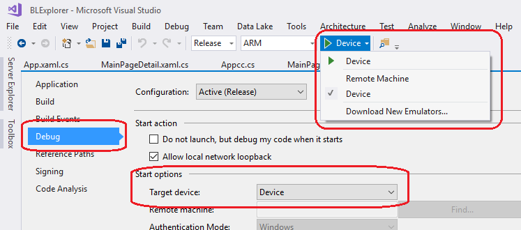 Visual Studio Target Problem: Exception 0x89721500 (Solved