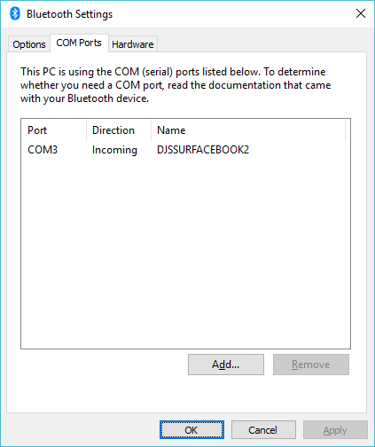 Interconnect issue over Bluetooth Serial | David Jones