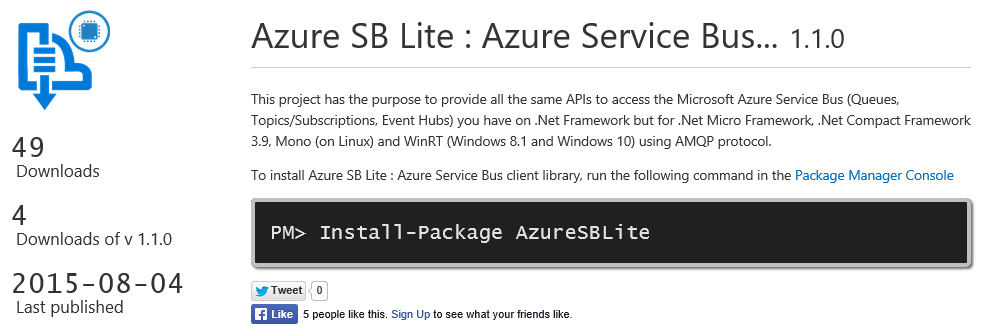 Azure SB Lite ... finally on Nuget !
